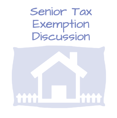 Senior Tax Exemption Discussion