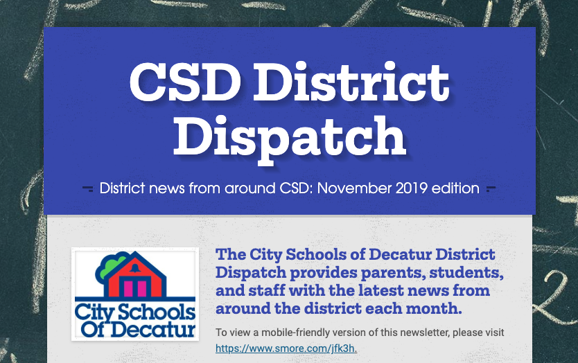 November 2019 District Dispatch