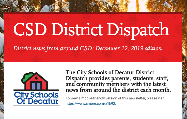 December 2019 District Dispatch
