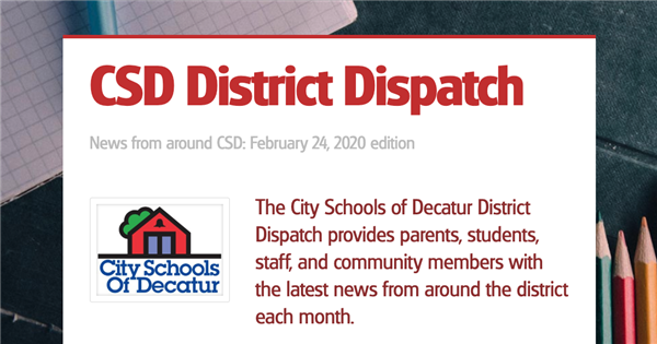 February 2020 Decatur Dispatch Newsletter
