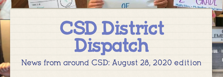 August 2020 District Dispatch