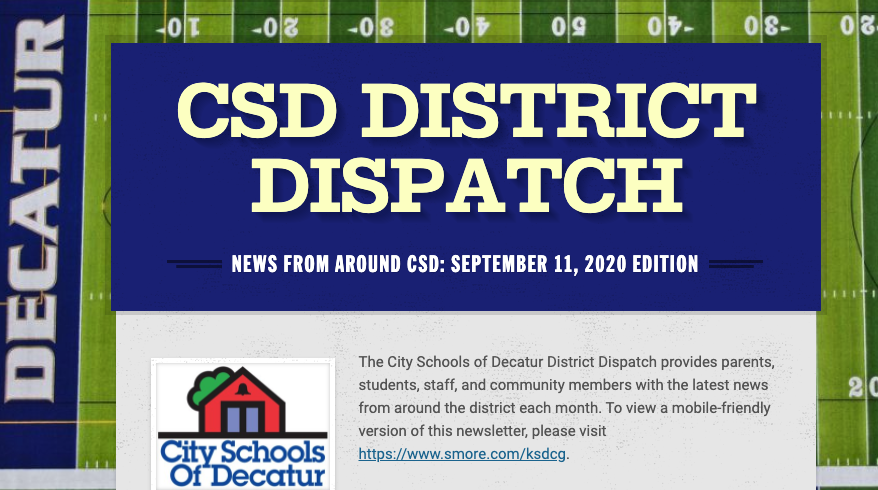 September 2020 District Dispatch