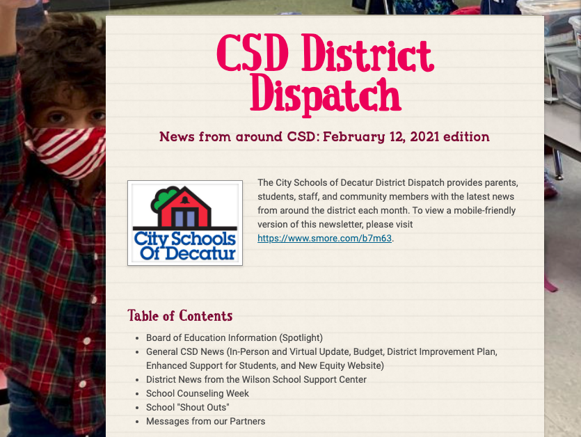 February District Dispatch