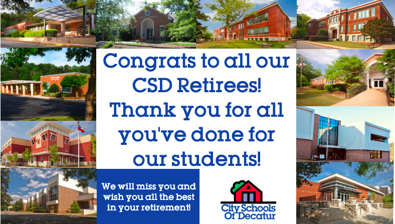 Congrats to our 2020 CSD Retirees!