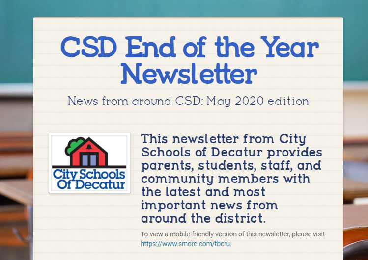 CSD 2020 End of the Year Newsletter